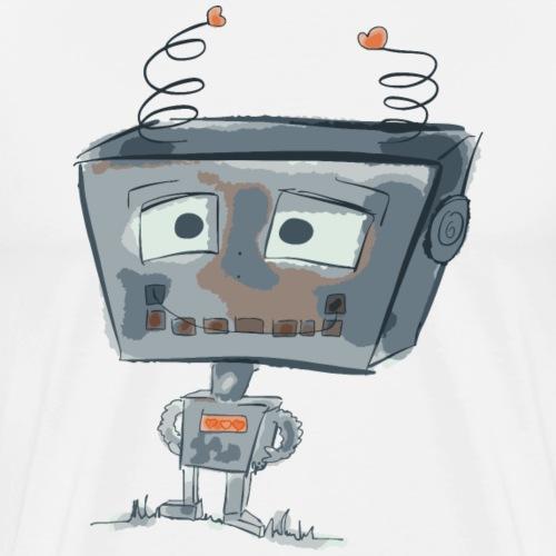 Roboter | cute small robot - by i.r.k. - Männer Premium T-Shirt