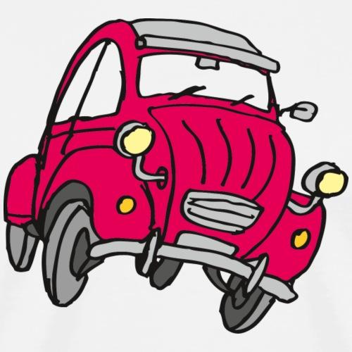 Comic Kleinwagen Rot - Männer Premium T-Shirt