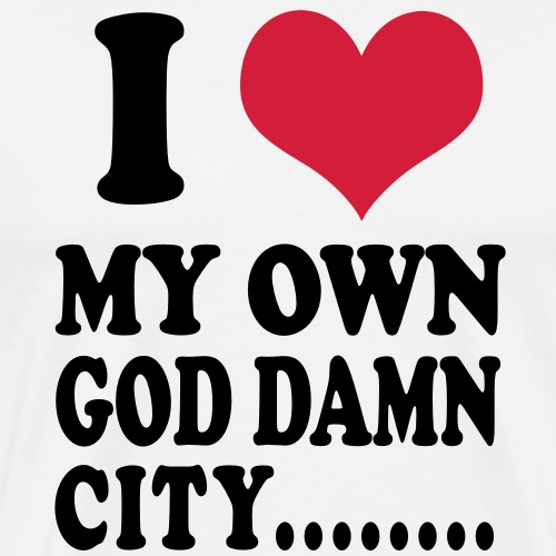 I love my own city - Premium-T-shirt herr