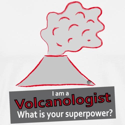 Volcanologist Superpower - Männer Premium T-Shirt