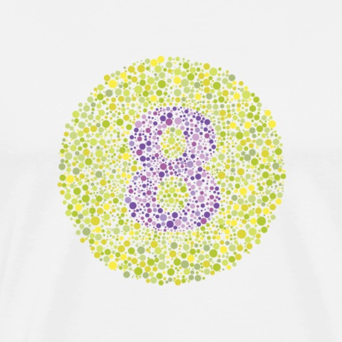 Number 8 Ishihara Test Circle - Men's Premium T-Shirt