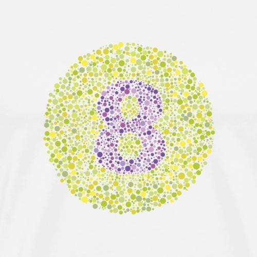 Number 8 Ishihara Test Circle - Men's Premium T-Shirt