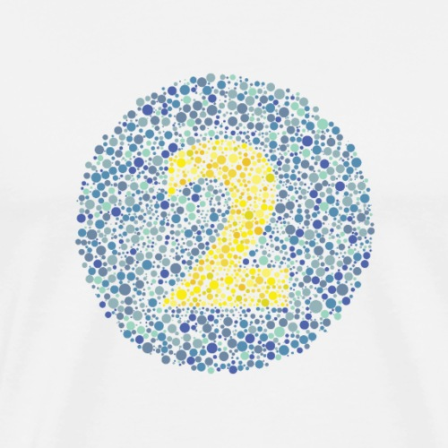 Number 2 Ishihara Test Circle - Men's Premium T-Shirt