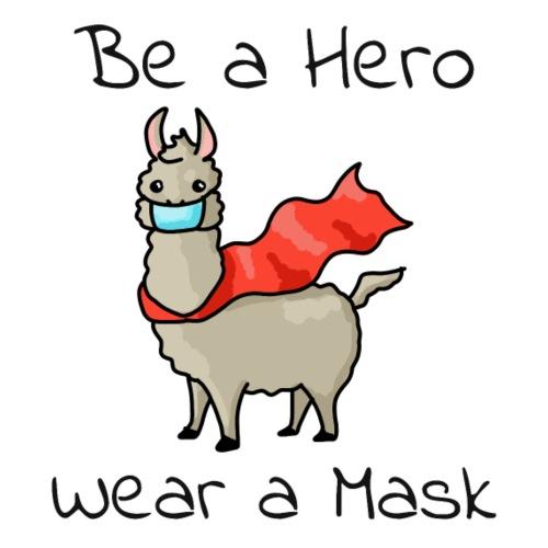 Sei ein Held, trag eine Maske - fight COVID-19