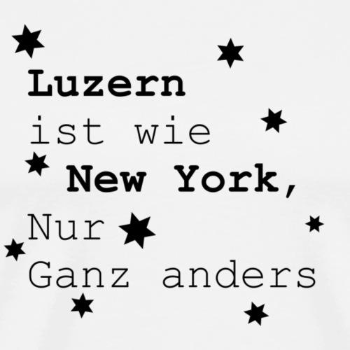 Luzern Heimatliebe Schweiz Lieblingsstadt - Männer Premium T-Shirt