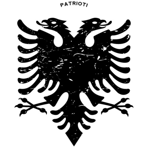 Albanischer Adler im Vintage Look - Patrioti - Männer Premium T-Shirt