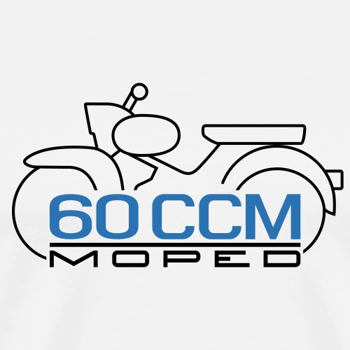 Moped Star 60 ccm Emblem - Men's Premium T-Shirt