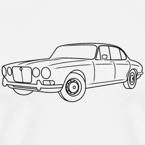 70s Jaguar XJ Outline Dark - Simple - Men's Premium T-Shirt