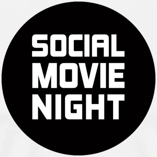 Social Movie Night - Logo Weiß auf Schwarz - Männer Premium T-Shirt