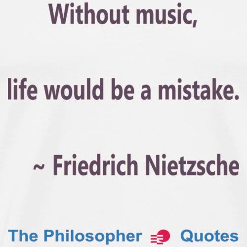 Nietzsche Music-b - Mannen Premium T-shirt