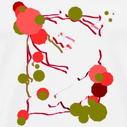 tableau original fleur ballon - T-shirt Premium Homme