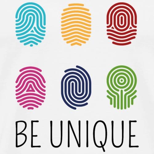 BE UNIQUE Fingerprint | the colorful zebra - Men's Premium T-Shirt