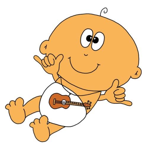 Baby mit Gitarre - Männer Premium T-Shirt
