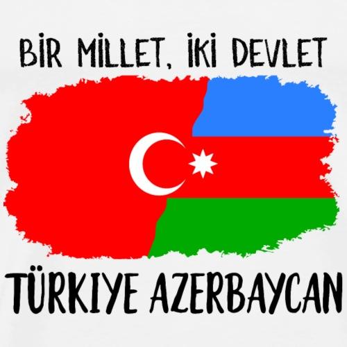 Türkei Aserbaidschan Bir Millet Iki Devlet - Männer Premium T-Shirt