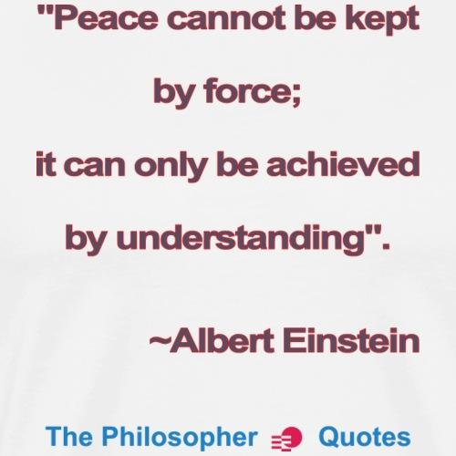 Einstein Peace understanding b - Mannen Premium T-shirt