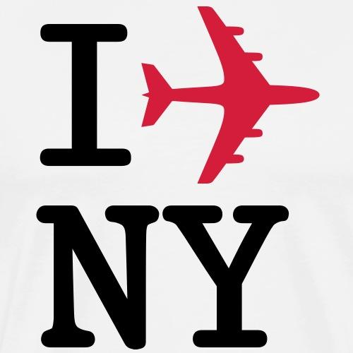 I plane NY - Premium-T-shirt herr