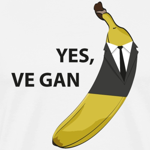 yes vegan - Banane im Anzug - Männer Premium T-Shirt