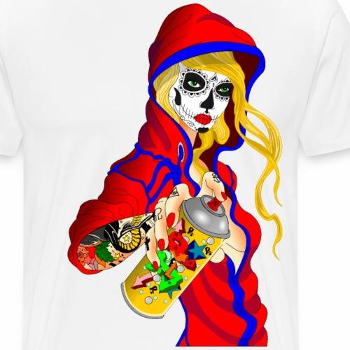 Tätowierte Frau mit Spraydose - Männer Premium T-Shirt