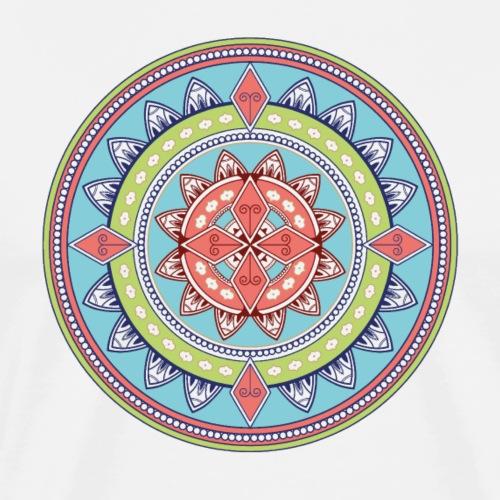 Mandala farbig hellblau plus #4 - Männer Premium T-Shirt