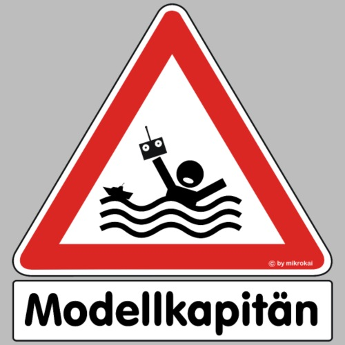 Warnschild Modellkapitän - Männer Premium T-Shirt