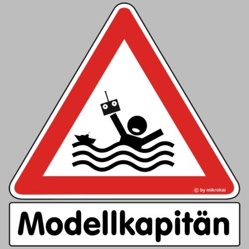 """Warnschild """"Modellkapitän"""""""