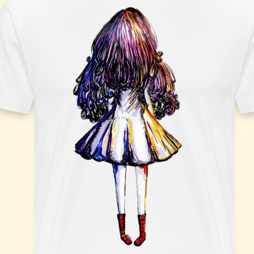 FacelessGirl and Red Doc : Rock'n'roll girl - T-shirt Premium Homme