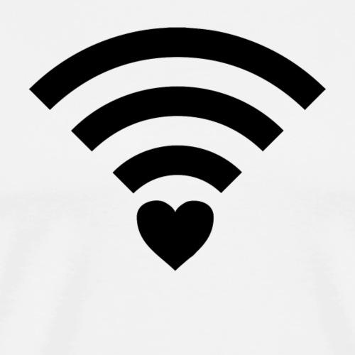 WLAN Herz - Männer Premium T-Shirt