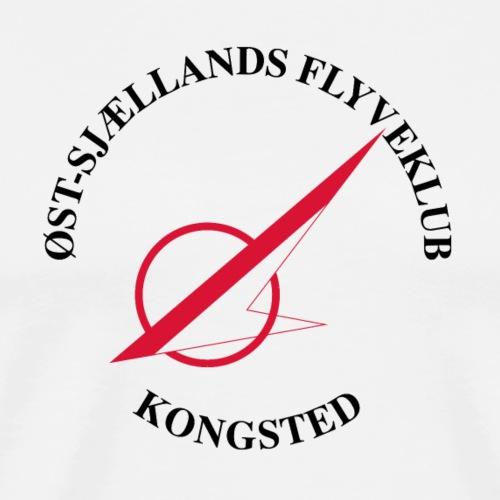 Øst Sjællands flyveklub Logo - Herre premium T-shirt