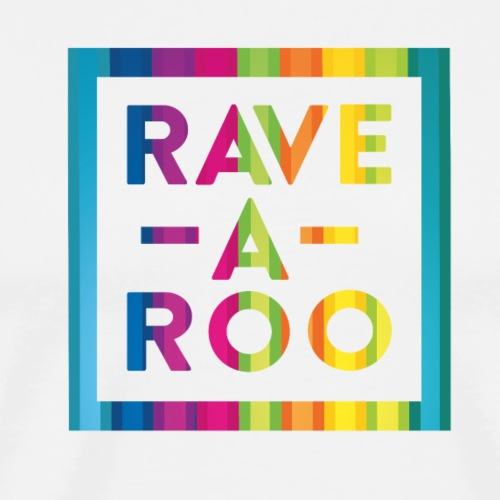 Rave-A-Roo Rainbow Logo - Men's Premium T-Shirt