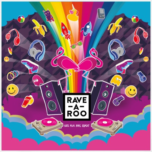 Rave-A-Roo Square - Men's Premium T-Shirt