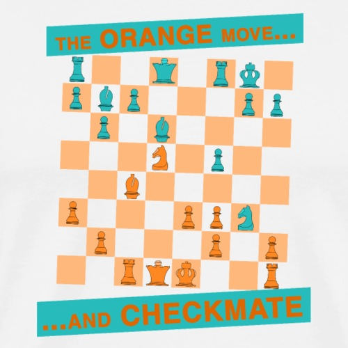 The ORANGE move… and CHECKMATE - Greco - Maglietta Premium da uomo