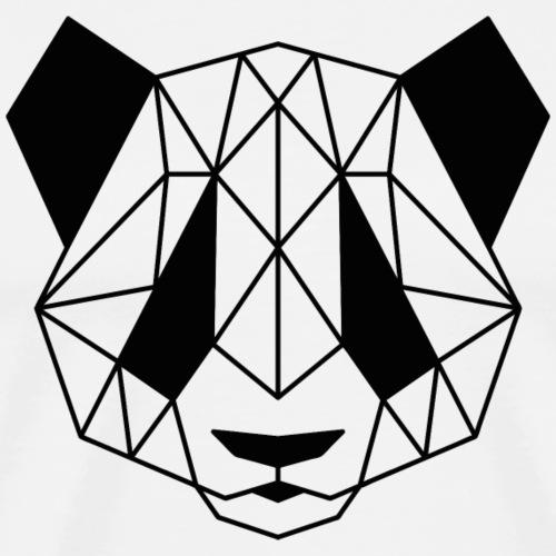 Geometrischer Panda - Männer Premium T-Shirt