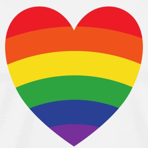 Regenbogenherz | LGBT | Geschenkidee - Männer Premium T-Shirt