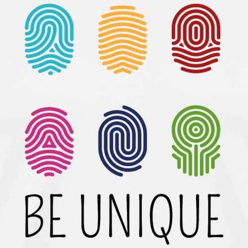 BE UNIQUE Fingerprint | the colorful zebra - Men's Premium T-Shirt