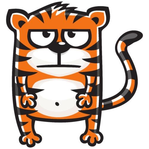 Tiger mürrisch - Männer Premium T-Shirt