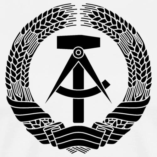 DDR Wappen (schwarz) - Men's Premium T-Shirt