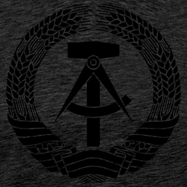 DDR Wappen (schwarz)