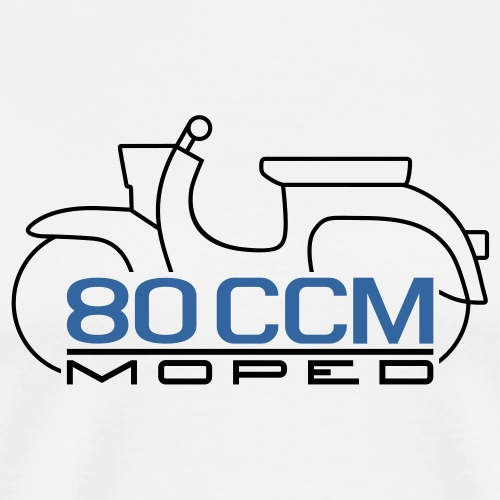 Moped Schwalbe Emblem 80 ccm - Men's Premium T-Shirt