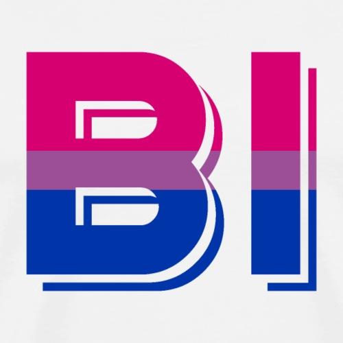 BI | Flagge | LGBT - Männer Premium T-Shirt
