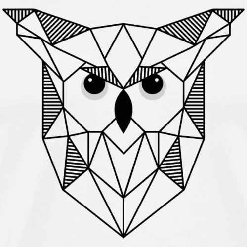 Geometrische Eule - Männer Premium T-Shirt
