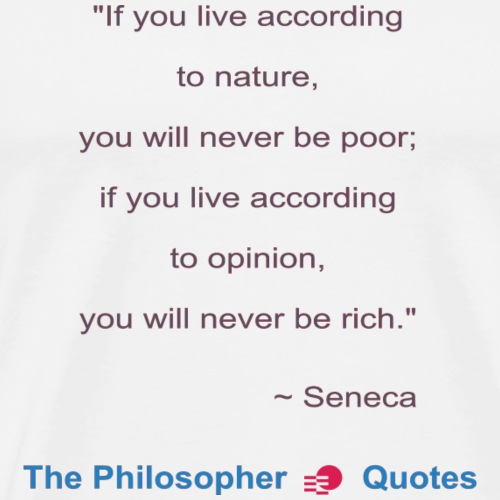 Seneca Living according to opinion Philosopher b - Mannen Premium T-shirt