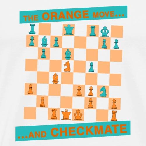 The ORANGE move… and CHECKMATE - Greco - Maglietta Premium da uomo