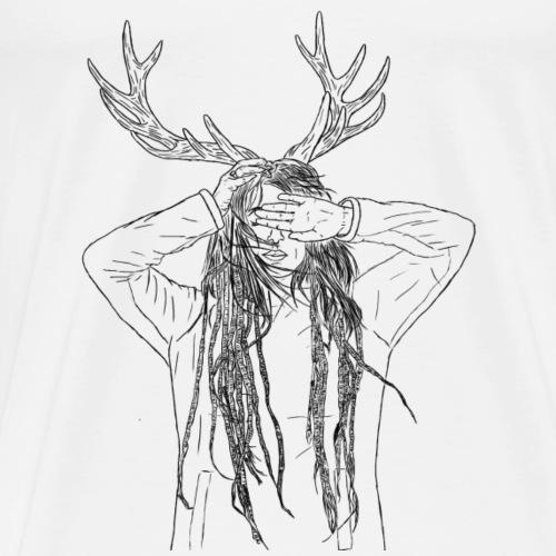 Antler black - Männer Premium T-Shirt