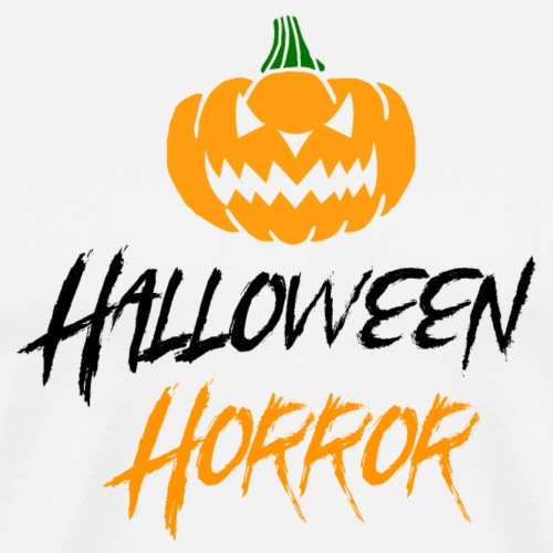 Halloween horror pumpkin - Men's Premium T-Shirt