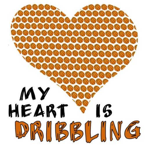 basketball - my heart is dribbling - Männer Premium T-Shirt