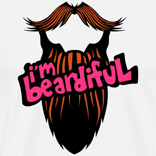 citation barbe i m beardiful barbu humou - T-shirt Premium Homme