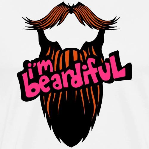 citation barbe i m beardiful barbu humou - T-shirt Premium Homme