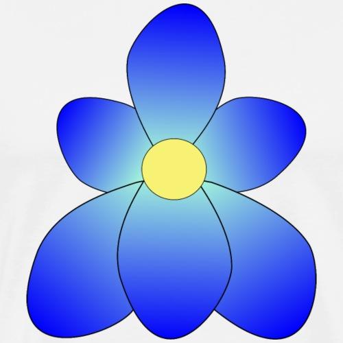 flower blueazure up - Men's Premium T-Shirt