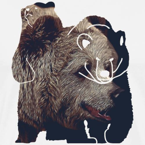 gxp kodiak braunbär vector kunst dunkel - Männer Premium T-Shirt