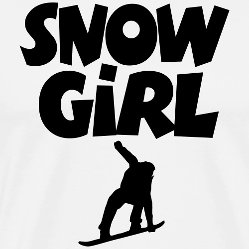 Snowgirl Snowboard Snowboarding - Männer Premium T-Shirt